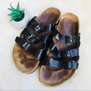 Birkenstock Black Leather Sandals 42